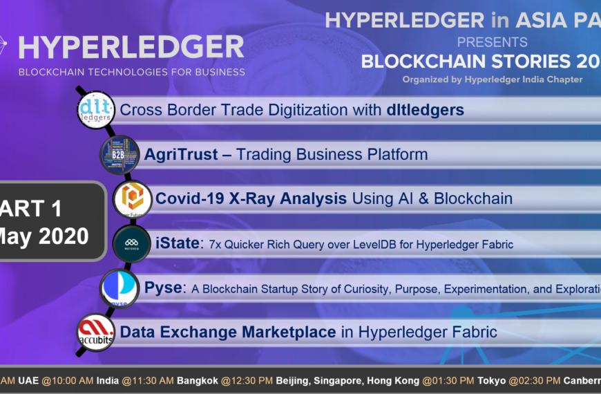 Blockchain Stories 2020 – Week 1: A Hyperledger event