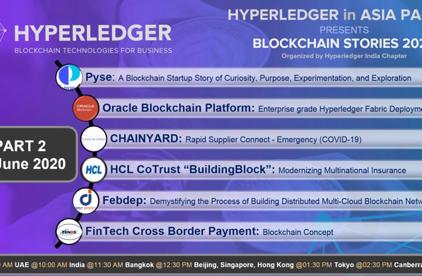 Blockchain Stories 2020 – Week 2: A Hyperledger event