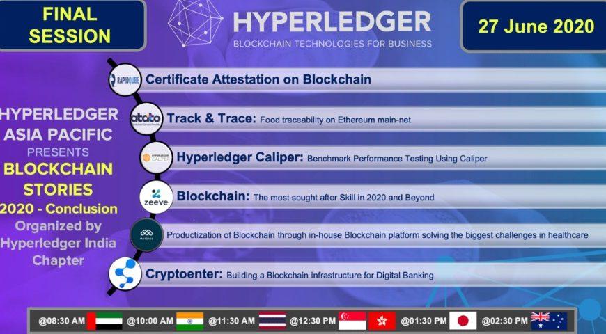 Blockchain Stories 2020 – Week 5: A Hyperledger event