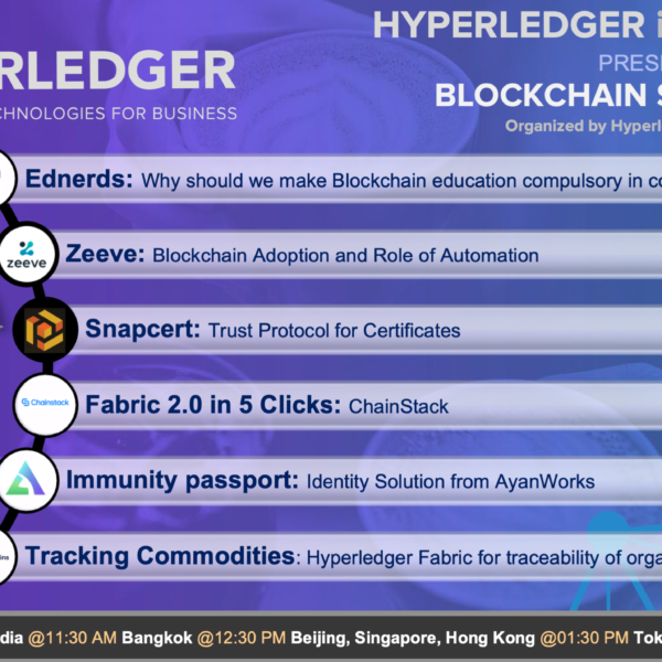 Blockchain Stories 2020 – Week 3: A Hyperledger event