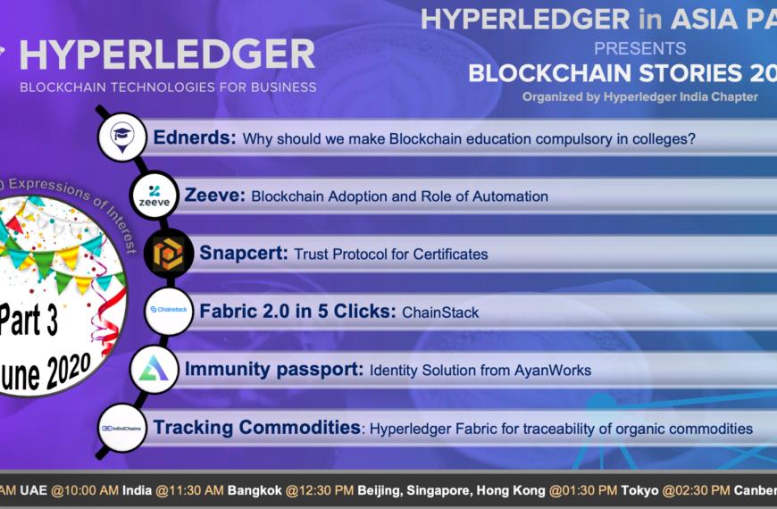 Blockchain Stories 2020 – Week 3: A Hyperledger event