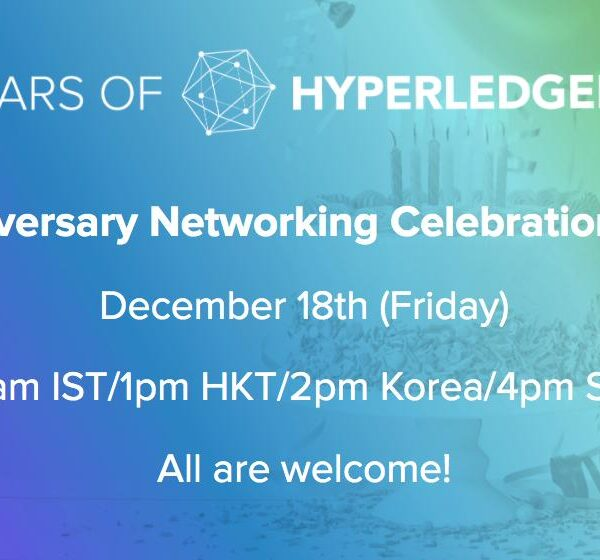 Hyperledger's celebrates its 5th Anniversary! Attend Webinar and get FREE T-Shirt coupon!!